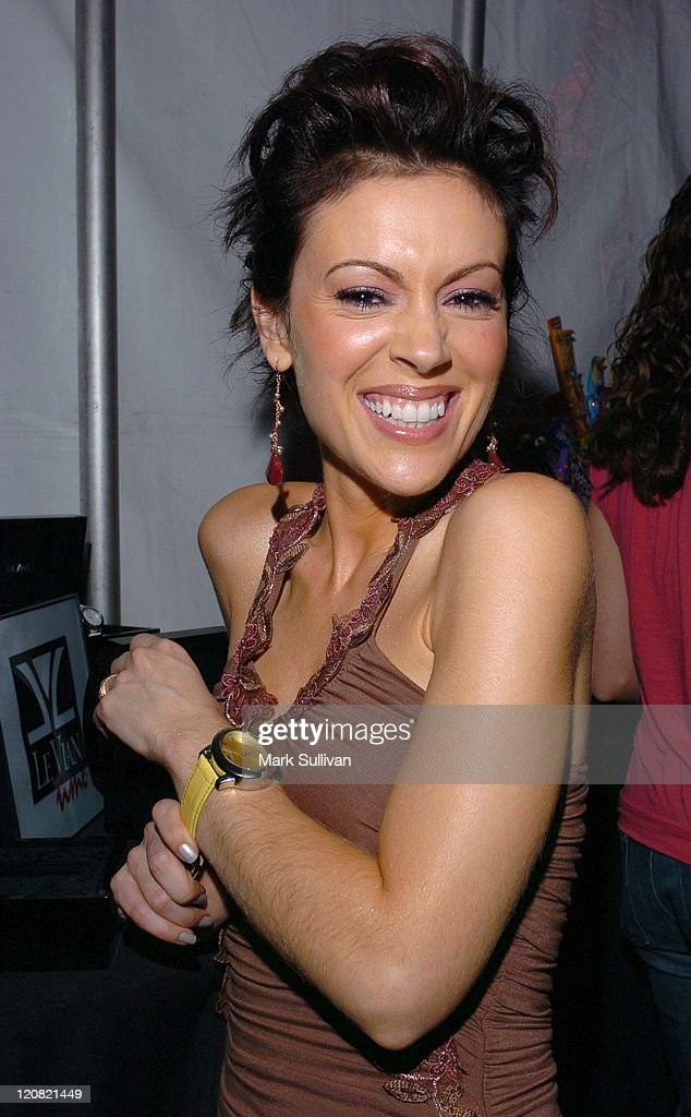 Alyssa Milano during Mattel Celebrity Retreat Presented by Backstage Creations at Kids' Choice Awards '05 - Day 2 at UCLA Pauley Pavilion in Westwood, California, United States.