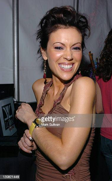 Alyssa Milano during Mattel Celebrity Retreat Presented by Backstage Creations at Kids' Choice Awards '05 Day 2 at UCLA Pauley Pavilion in Westwood...