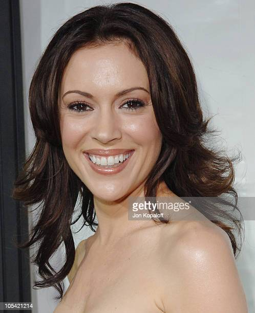 Alyssa Milano during 'MonsterInLaw' Los Angeles Premiere at Mann National Theatre in Hollywood CA United States