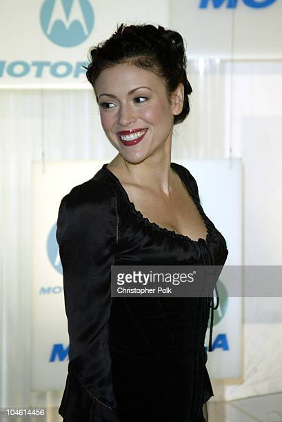 Alyssa Milano during Motorola Hosts Fourth Annual Holiday Party Arrivals at The Lot in Hollywood CA United States