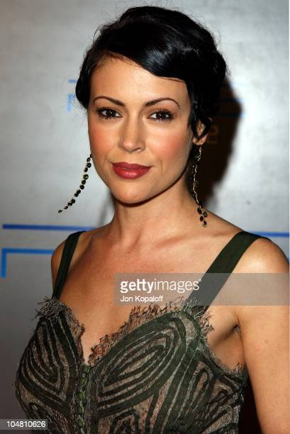 Alyssa Milano during Playstation 2 E3 Party 'Playa Del Playstation' Arrivals at Viceroy Hotel in Santa Monica CA United States