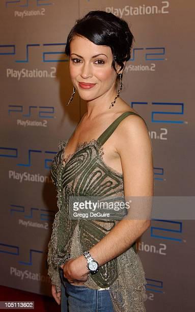 Alyssa Milano during Playstation 2 'Playa Del Playstation' Party at Viceroy Hotel in Santa Monica California United States