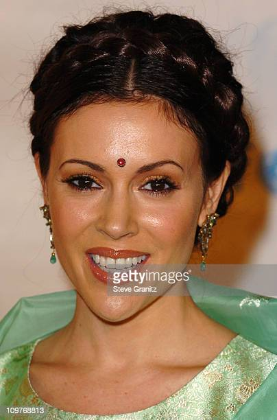 Alyssa Milano during The Concert for Bangladesh Revisted with George Harrison and Friends Documentary Gala Arrivals in Burbank California United...