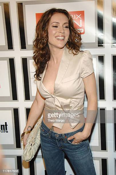Alyssa Milano during The Entertainment Weekly/Matrix Men Upfront Party Roaming and Arrivals at The Manor in New York City New York United States