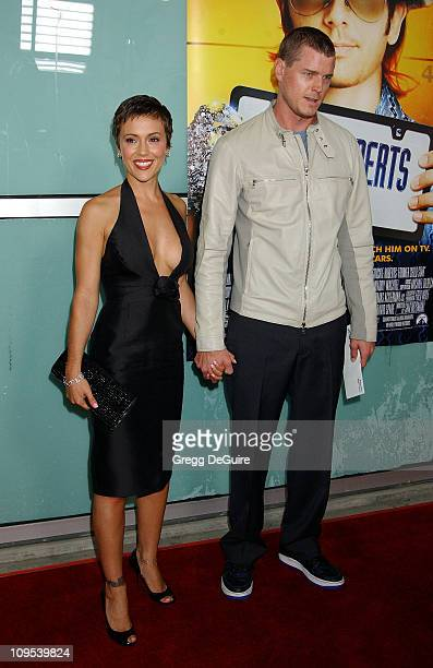 Alyssa Milano Eric Dane during 'Dickie Roberts Former Child Star' Premiere at Arclight Theater in Hollywood California United States