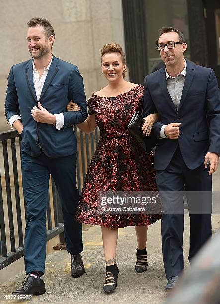 Alyssa Milano is seen around Spring 2016 New York Fashion Week The Shows Day 2 on September 11 2015 in New York City