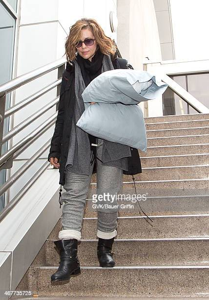 Alyssa Milano is seen at LAX airport on February 07 2014 in Los Angeles California