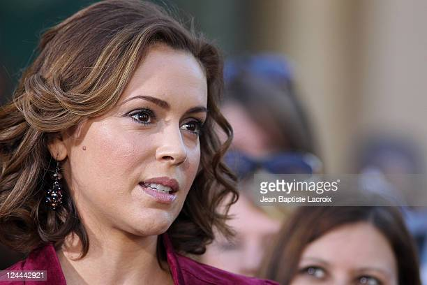 Alyssa Milano is seen at The Grove on November 30 2010 in Los Angeles California