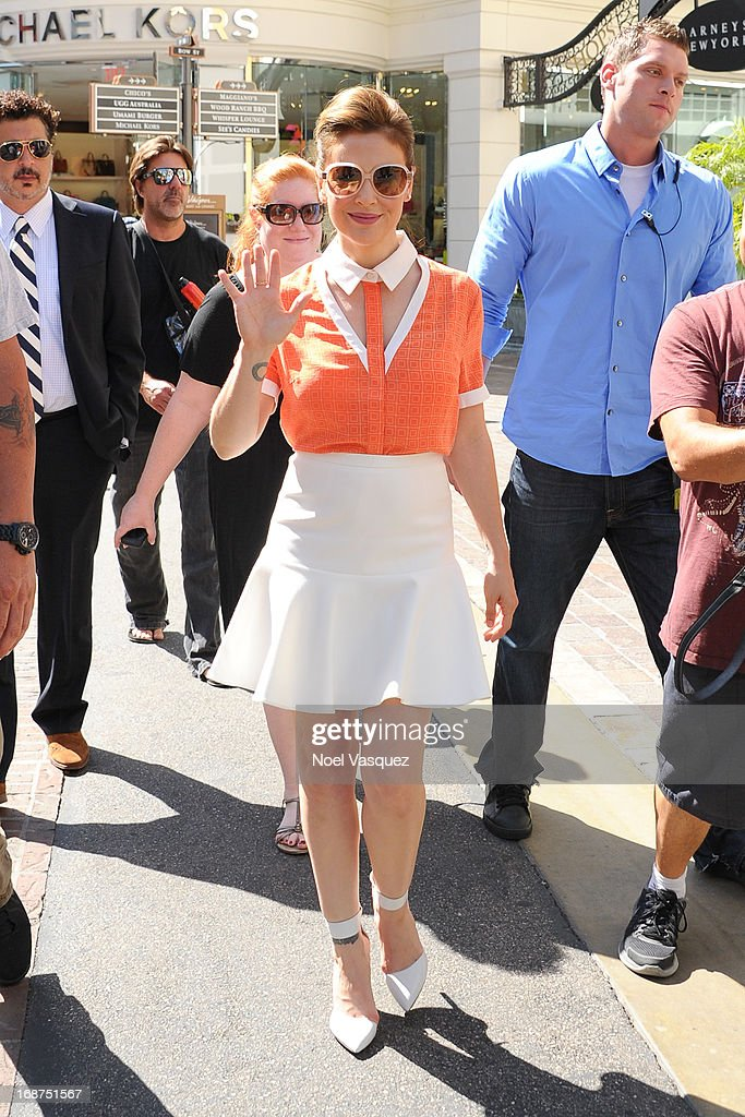 Alyssa Milano is sighted at The Grove on May 14, 2013 in Los Angeles, California.