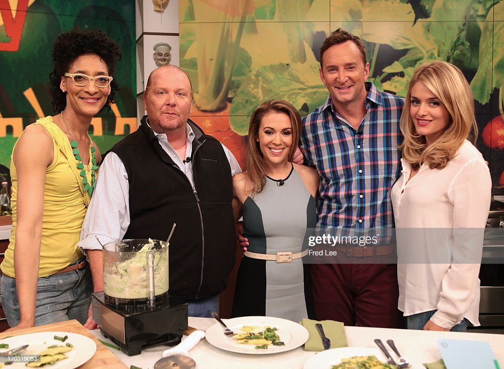 THE CHEW - (airs June 10, 2013) Alyssa Milano (ABC's 'Mistresses') joins Clinton Kelly and Mario Batali in the kitchen to make Pasta Primavera Mascarpone Ravioli; author and NY Times food writer Mark Bittman talks about his book, Vegan Before 6:00. 'The Chew' airs MONDAY - FRIDAY (1-2pm, ET) on the ABC Television Network. OZ