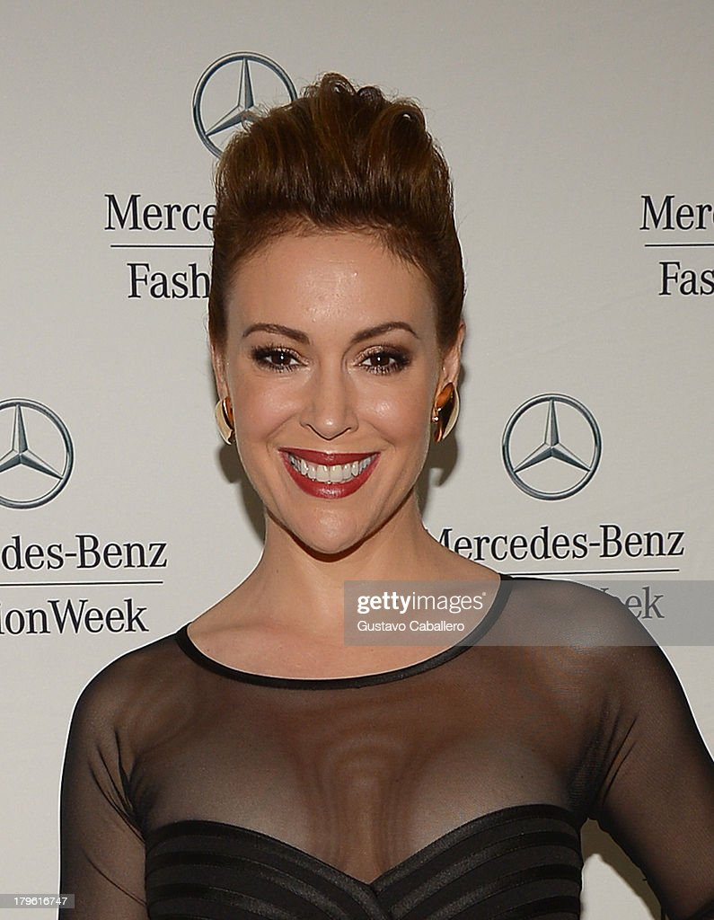 <a gi-track='captionPersonalityLinkClicked' href=/galleries/search?phrase=Alyssa+Milano&family=editorial&specificpeople=203329 ng-click='$event.stopPropagation()'>Alyssa Milano</a> seen around Lincoln Center - Day 1 - Mercedes-Benz Fashion Week Spring 2014 at Lincoln Center for the Performing Arts on September 5, 2013 in New York City.