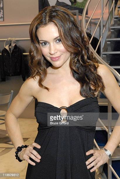 Alyssa Milano Touched by Alyssa Milano during The MAGIC Marketplace Day Two at Las Vegas Convention Center Las Vegas Hilton in Las Vegas Nevada...