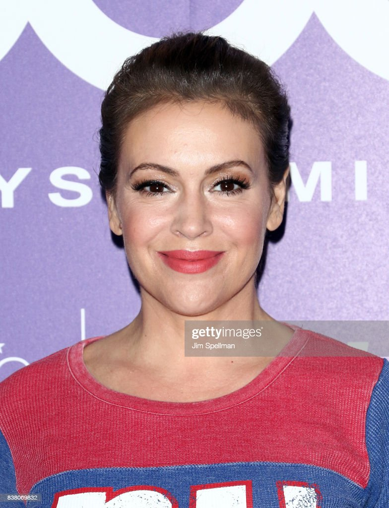 Alyssa Milano visits Macy's Herald Square at Macy's Herald Square on August 23, 2017 in New York City.