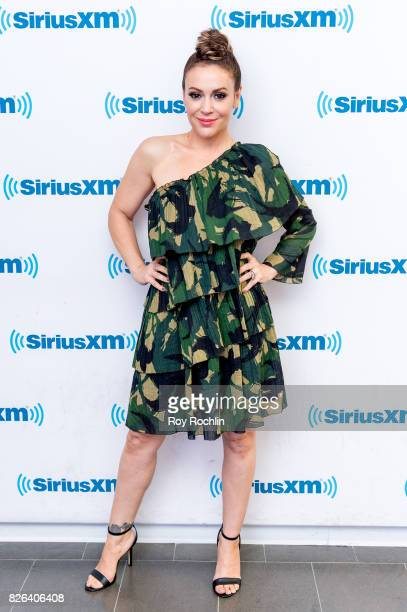 Alyssa Milano visits Sirius XM at SiriusXM Studios on August 4 2017 in New York City