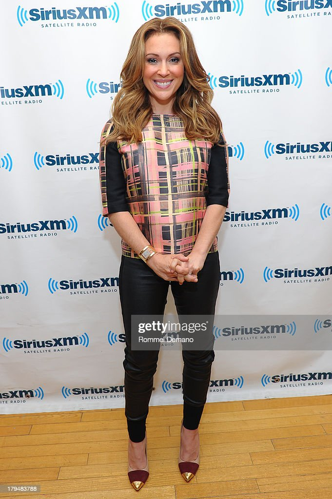 Alyssa Milano visits Sirius XM Studios to attend 'The Morning Jolt With Larry Flick' on September 4, 2013 in New York City.