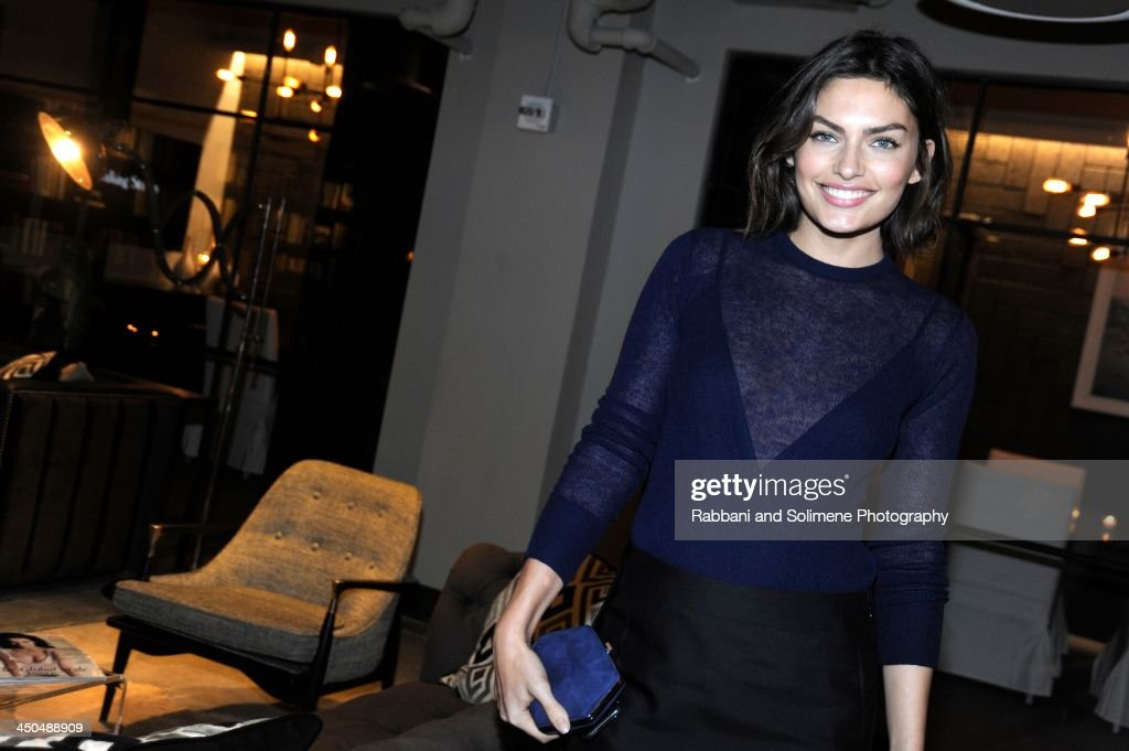 <a gi-track='captionPersonalityLinkClicked' href=/galleries/search?phrase=Alyssa+Miller&family=editorial&specificpeople=5364734 ng-click='$event.stopPropagation()'>Alyssa Miller</a> attends a cocktail party in honor of Salvatore Ferragamo's Short Film at Neuehouse on November 6, 2013 in New York City.