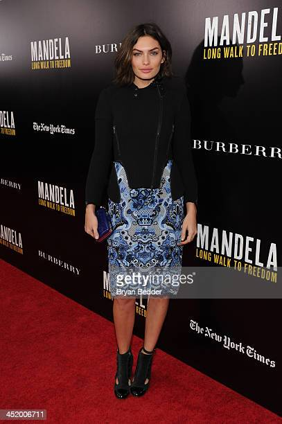 Alyssa Miller attends U2 And Anna Wintour Host A Special Screening Of Mandela Long Walk To Freedom In Partnership With Burberry And The New York...
