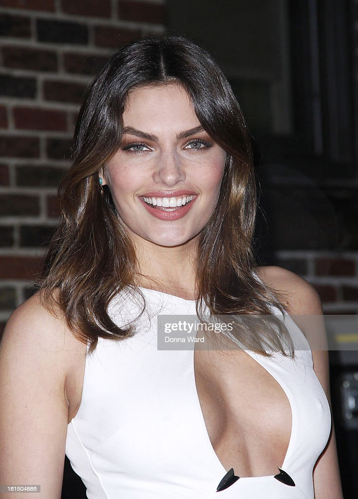 Alyssa Miller leaves 'The Late Show with David Letterman' at Ed Sullivan Theater on February 11, 2013 in New York City.