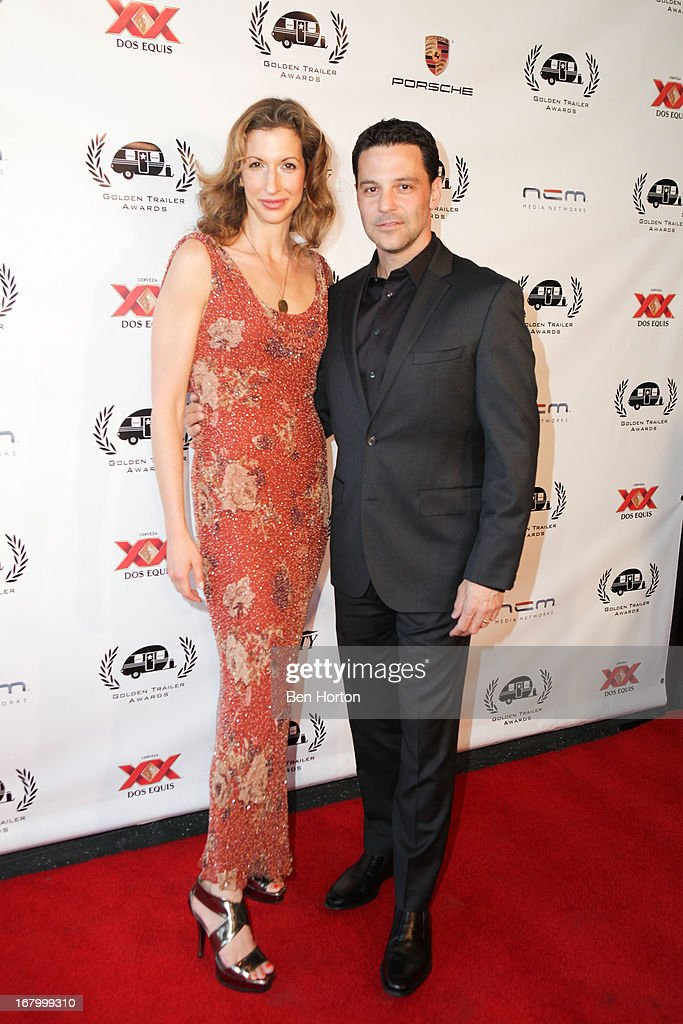 Alyssa Reiner and David Alan Basche attend the 14th Annual Golden Trailer Awards at Saban Theatre on May 3, 2013 in Beverly Hills, California.