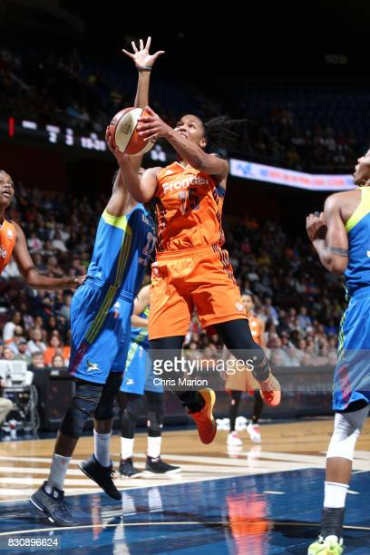 Alyssa Thomas of the Connecticut Sun goes for a lay up against the Dallas Wings on August 12 2017 at Mohegan Sun Arena in Uncasville CT NOTE TO USER...