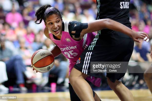 Alyssa Thomas of the Connecticut Sun in action during the Connecticut Sun Vs New York Liberty WNBA regular season game at Mohegan Sun Arena on August...