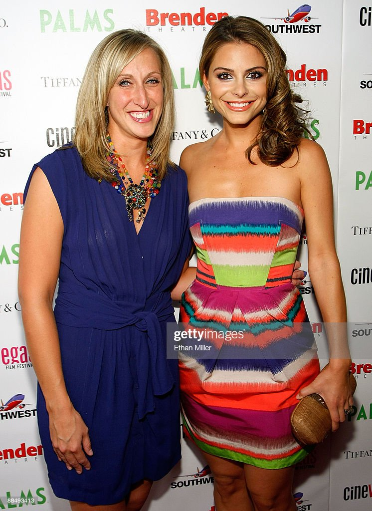 Alyssa Wallerce and TV personality Maria Menounos arrives at the awards reception during the 11th annual CineVegas film festival held at Rain Nightclub inside the Palms Casino Resort on June 14, 2009 in Las Vegas, Nevada.