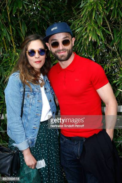 Alyson Paradis and Guilaume Gouix attend the 2017 French Tennis Open Day Height at Roland Garros on June 4 2017 in Paris France