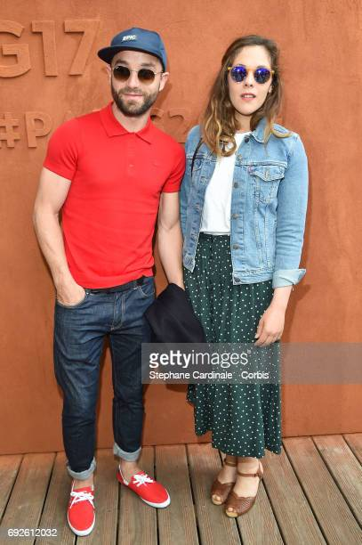 Alysson Paradis and Guilaume Gouix attend the 2017 French Tennis Open Day Nine at Roland Garros on June 5 2017 in Paris France
