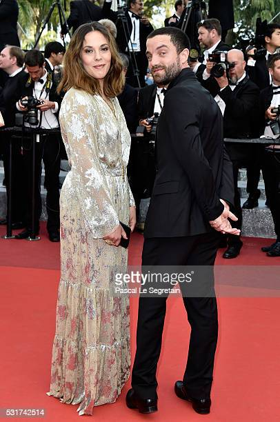 Alysson Paradis and Guillaume Gouix attend the 'Loving' premiere during the 69th annual Cannes Film Festival at the Palais des Festivals on May 16...