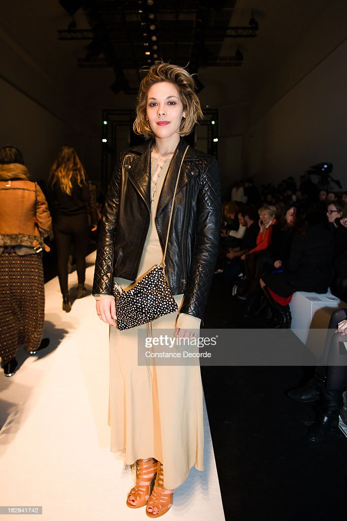 Alysson Paradis at the Vanessa Bruno Fall/Winter 2013 Ready-to-Wear show as part of Paris Fashion Week at Grand Palais on March 1, 2013 in Paris, France.