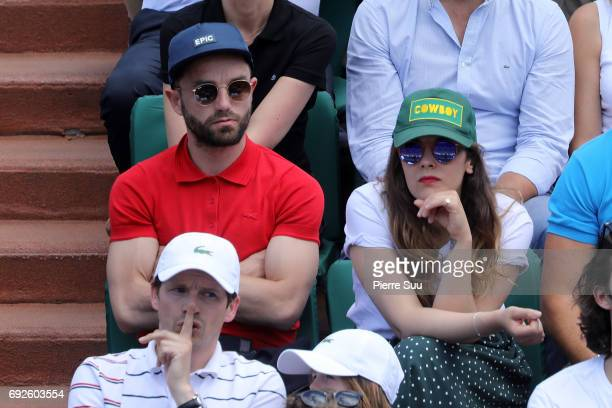 Alysson ParadisGuillaume Gouix are spotted at Roland Garros on June 5 2017 in Paris France