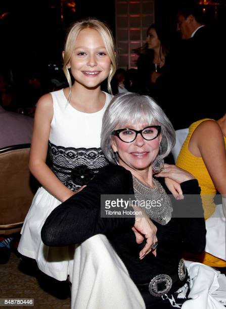 Alyvia Alyn Lind and Rita Moreno attend the 6th Annual Women Making History Awards at The Beverly Hilton Hotel on September 16 2017 in Beverly Hills...