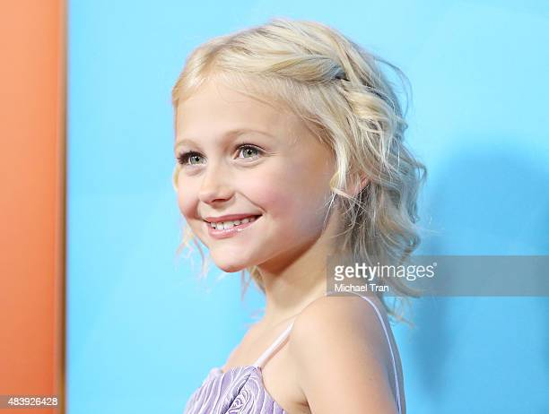 Alyvia Alyn Lind arrives at the NBCUniversal Press Tour 2015 day 2 held at The Beverly Hilton Hotel on August 13 2015 in Beverly Hills California