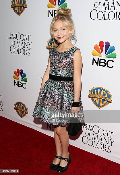 Alyvia Alyn Lind attends the premiere of Warner Bros Television's 'Dolly Parton's Coat Of Many Colors' on December 2 2015 in Hollywood California