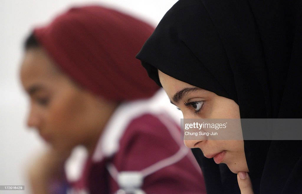 Alzarooni Khuloud Eisa Mohamed Huss of UAE competes in the Chess, Women's Classical round 2 during day three of the 4th Asian Indoor & Martial Arts Games at Yonsei International Campus on July 1, 2013 in Incheon, South Korea.