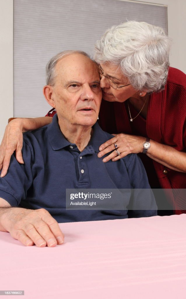 Alzheimer's Man With Wife at His Side