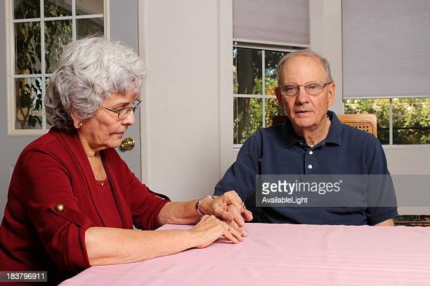 Alzheimers Wife Holds Husband's Hand