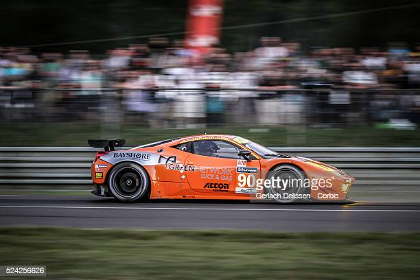 Am class 8Star Motorsports Ferrari F458 Italia of Frankie Montecalvo Gianluca Roda and Paolo Ruberti in action during the 2014 Le Mans 24 Hours in...