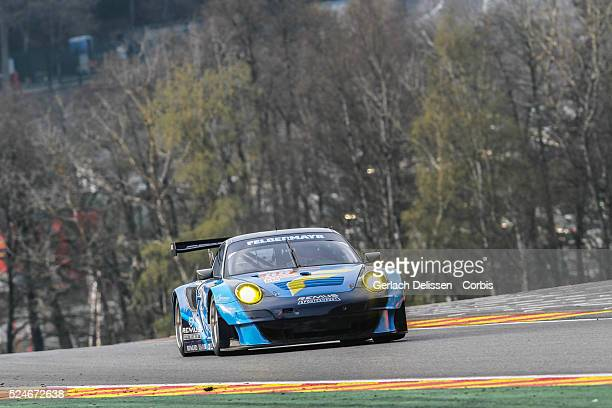Am class Proton Competition Porsche 911 GT3 RSR drivers Christian Ried Gianluca Roda Paolo Ruberti in action during qualifications at Round 2 of the...