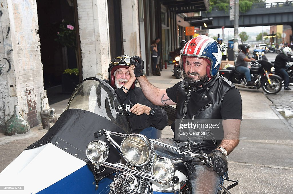 CEO, am FAR, Kevin Frost (L) and President, Kiehl's USA, <a gi-track='captionPersonalityLinkClicked' href=/galleries/search?phrase=Chris+Salgardo&family=editorial&specificpeople=5384803 ng-click='$event.stopPropagation()'>Chris Salgardo</a> attend the 5th Annual Kiehl's LifeRide for amfAR Finale Celebration on August 12, 2014 in New York City.