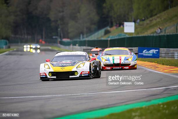 Am Larbre Competition Chevrolet Corvette C7 of Gianluca Roda / Paolo Ruberti / Kristian Poulsen in action during Round 2 of the 2015 FIA World...