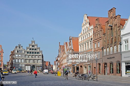 Am Sande square, Luneburg, Lower Saxony, Germany