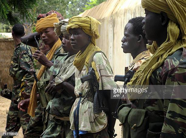 A picture taken 02 November 2006 shows children soldiers in the Chadian Army at Am Timan southeastern Chad The government of Chad and the UN...
