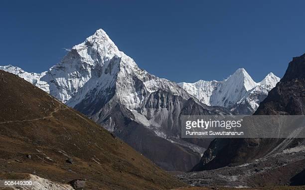 Ama Dablam mountain peak from Dzongla village, Everest region
