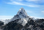 View of Ama Dablam on the way to Everest Base Camp, Sagarmatha national park, Khumbu valley, Nepal