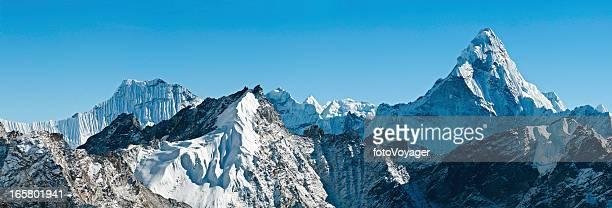 Ama Dablam snow summit spire Himalayas panorama
