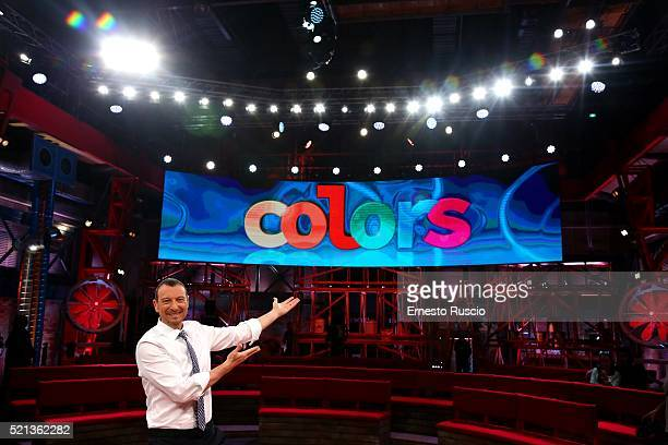 Amadeus attends the 'Colors' TV show photocall at Cinecitta Studios on April 15 2016 in Rome Italy
