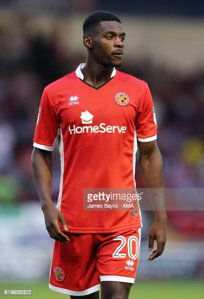 Amadou Bakayoko of Walsall during the preseason friendly match between Walsall and Aston Villa at Banks' Stadium on July 18 2017 in Walsall England