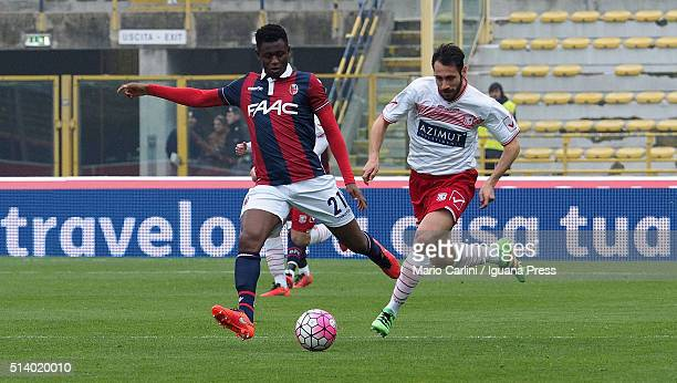 Amadou Diawara of Bologna FC in action during the Serie A match between Bologna FC and Carpi FC at Stadio Renato Dall'Ara on March 6 2016 in Bologna...