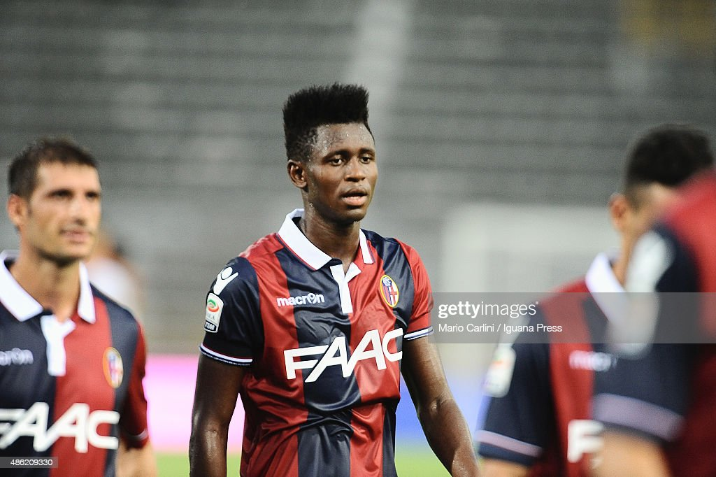 Amadou Diawara of Bologna FC looks dejected at the end of the Serie A match between Bologna FC and US Sassuolo Calcio at Stadio Renato Dall'Ara on...